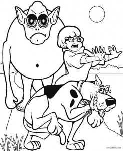 scooby doo monster coloring pages