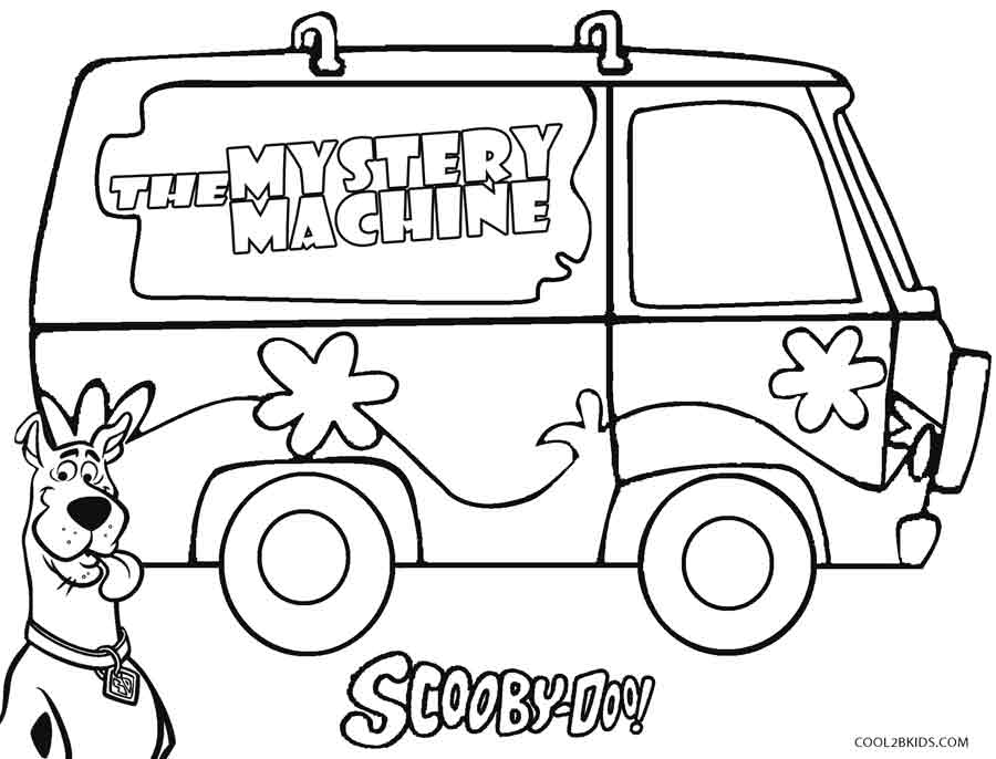 scooby doo mystery machine coloring pages - Scooby Doo Colouring Pictures To Print