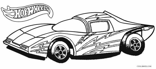 coloring pages hot wheels