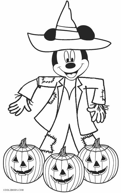 Coloring Pages For Halloween Free Disney Halloween Coloring Pages ... | 650x410