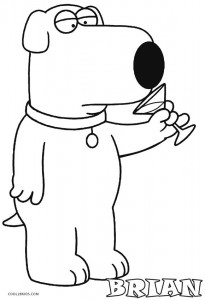 Family Guy Brian Coloring Pages