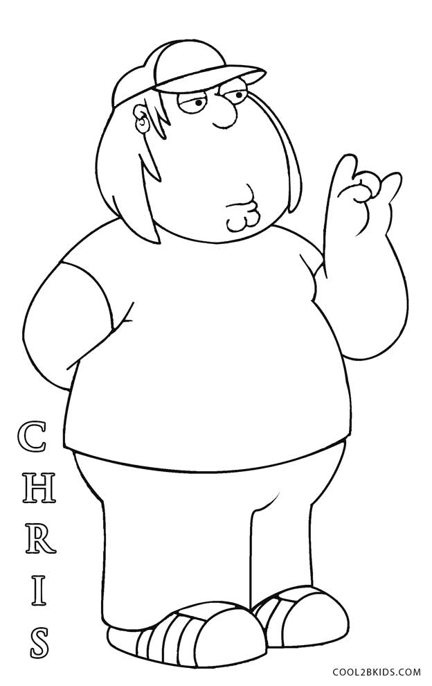 family guy coloring page - Free Cartoon Coloring Pages