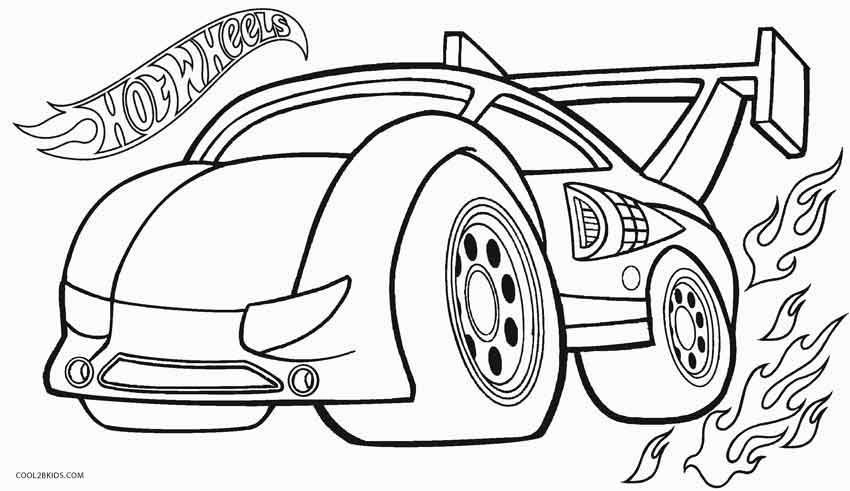 Printable hot wheels coloring pages for kids cool2bkids for Wheel coloring page