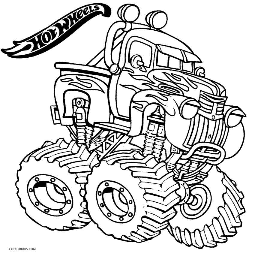 Hot wheels monster jam coloring pages coloring page for Monster jam coloring pages