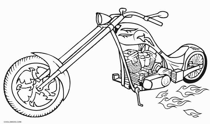 free biker coloring pages - photo#22