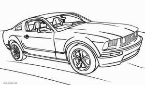 Hot Wheels Mustang Coloring Pages