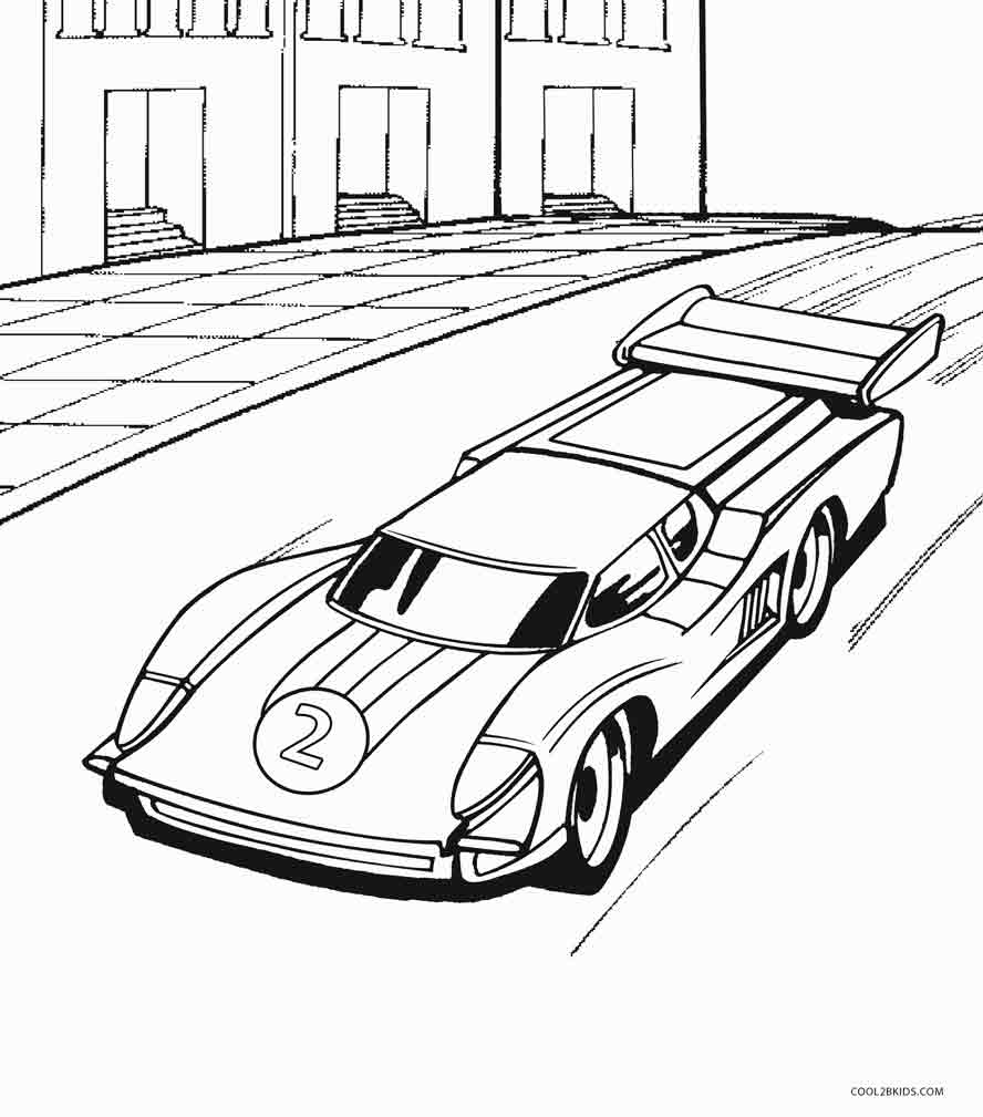 Coloring pages for hot wheels - Hot Wheels Printable Coloring Pages