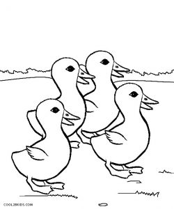 Baby Duck Coloring Page