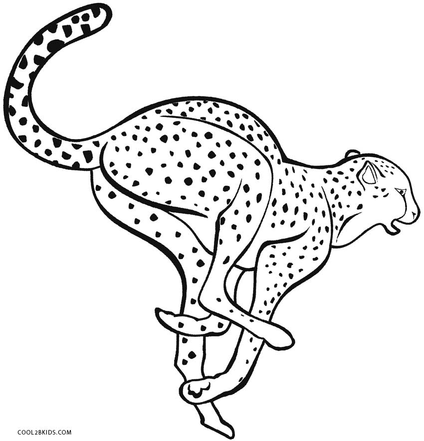 free coloring pages of running cheetah