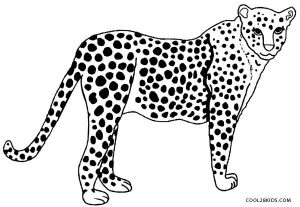 Cheetah Coloring Pages Online