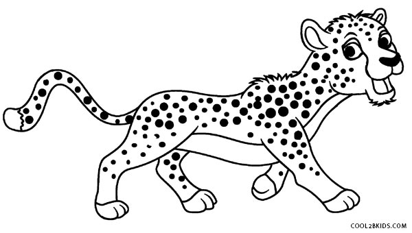 baby cheetah coloring pages - photo#45