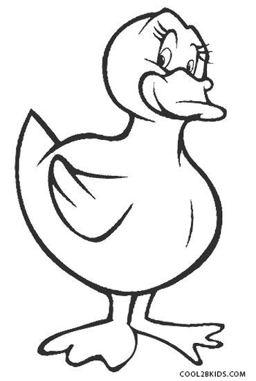 Printable Duck Coloring Pages For
