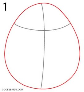 How to Draw Mike Wazowski Step 1