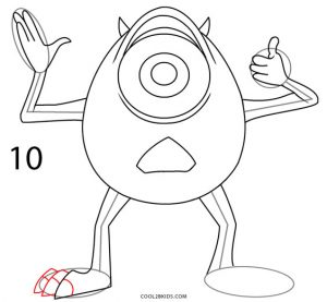 How to Draw Mike Wazowski Step 10