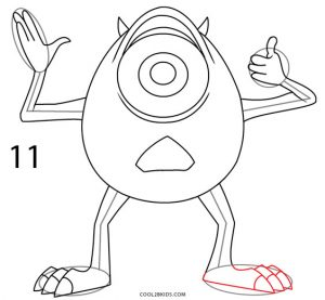 How to Draw Mike Wazowski Step 11