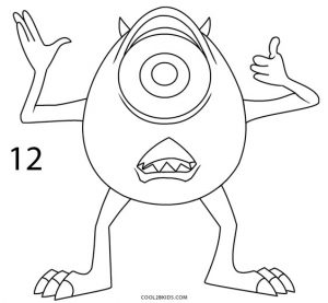 How to Draw Mike Wazowski Step 12