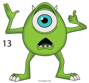 How to Draw Mike Wazowski Step 13