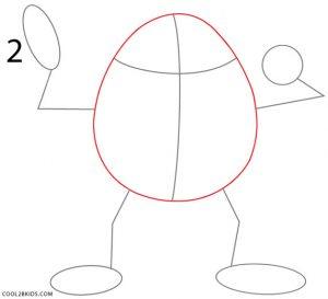 How to Draw Mike Wazowski Step 2