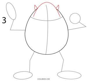 How to Draw Mike Wazowski Step 3