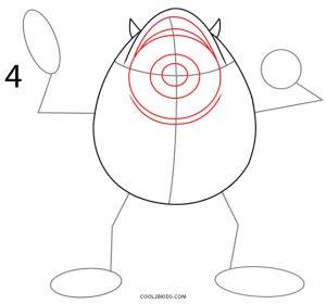 How to Draw Mike Wazowski Step 4