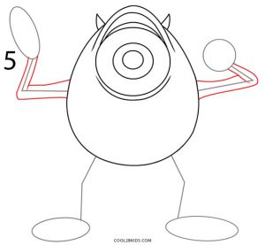 How to Draw Mike Wazowski Step 5