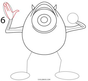 How to Draw Mike Wazowski Step 6
