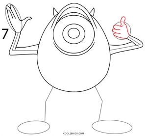 How to Draw Mike Wazowski Step 7