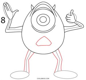 How to Draw Mike Wazowski Step 8