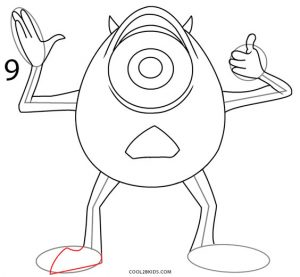 How to Draw Mike Wazowski Step 9