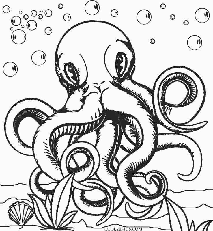 Printable Octopus Coloring Page For Kids