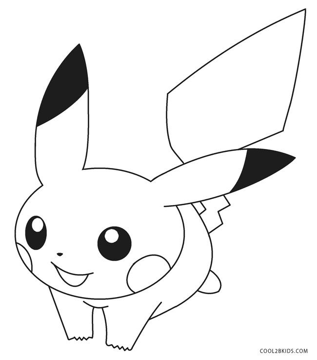 pikachu in action coloring pages - photo#36