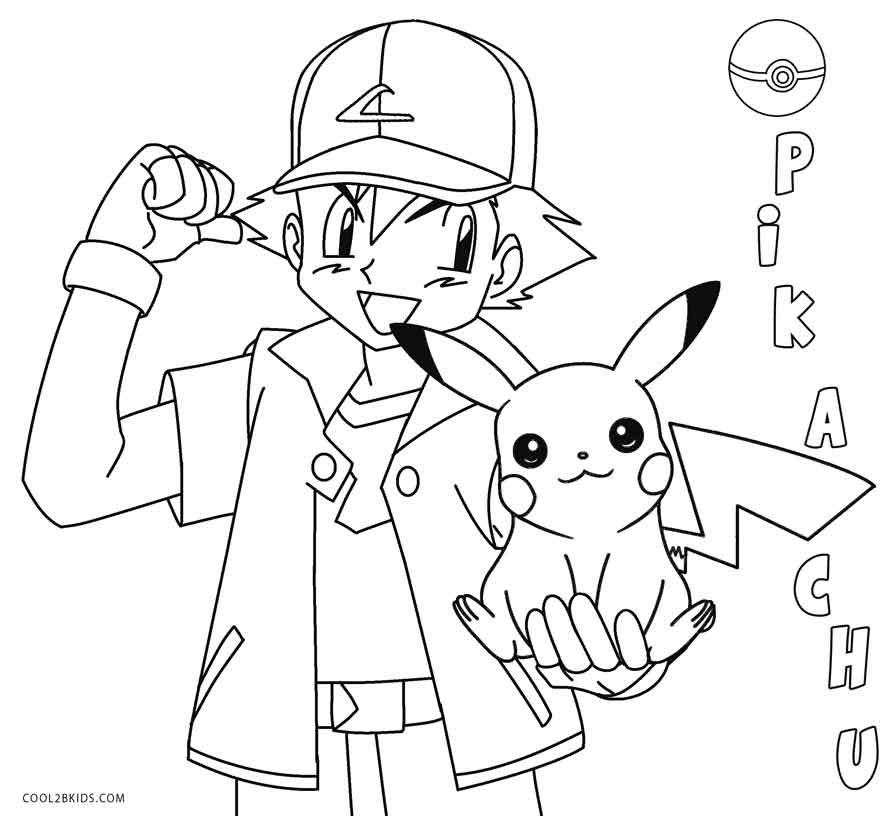 pikachu with hat coloring pages - photo#11