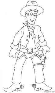 Cowboy Coloring Pages Printable