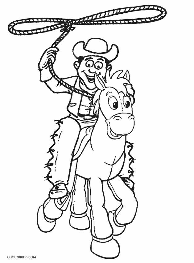 Old Fashioned Cowboy Coloring Page Vignette - Ways To Use Coloring ...