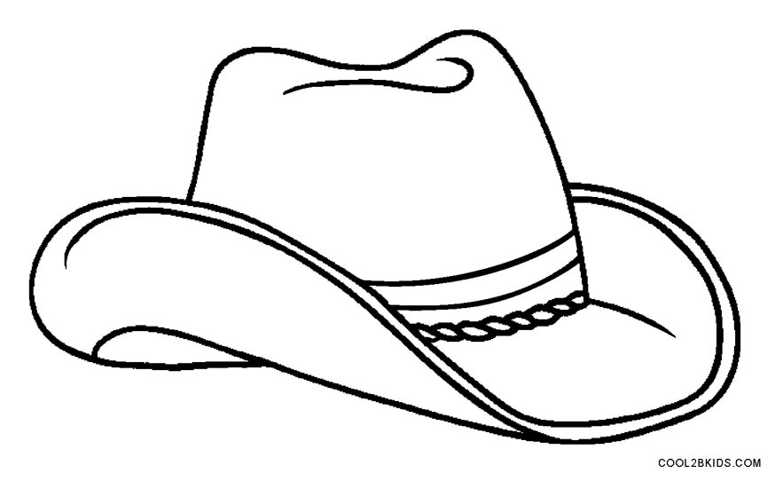 sombrero hat coloring page - printable cowboy coloring pages for kids cool2bkids