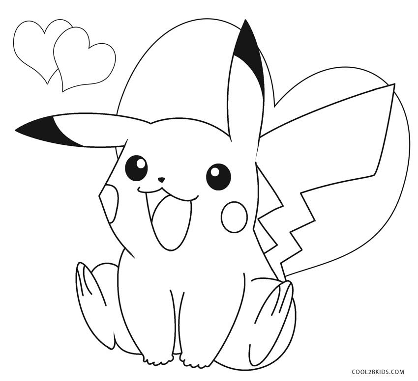 Happy Pikachu Coloring Page