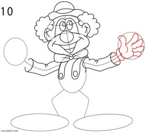 How to Draw a Clown Step 10