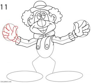 How to Draw a Clown Step 11