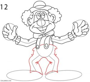 How to Draw a Clown Step 12