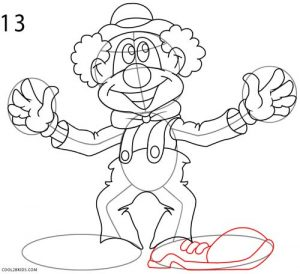 How to Draw a Clown Step 13