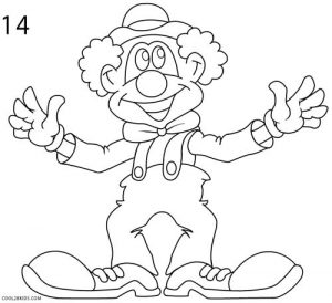 How to Draw a Clown Step 14