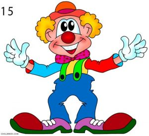 How to Draw a Clown Step 15