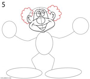 How to Draw a Clown Step 5