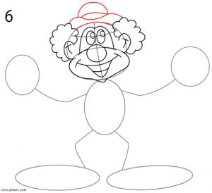 How to Draw a Clown Step 6