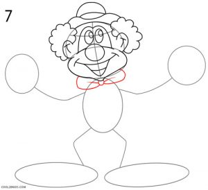 How to Draw a Clown Step 7