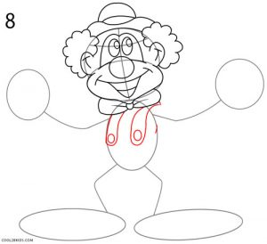 How to Draw a Clown Step 8