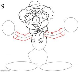How to Draw a Clown Step 9