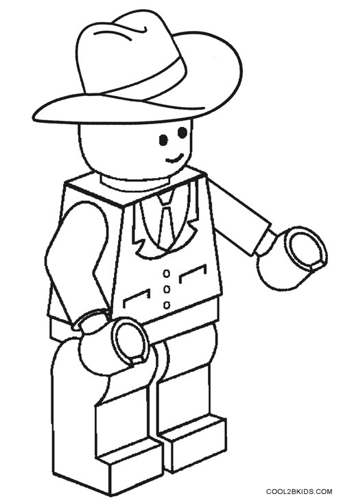 coloring cowboy book pages-#25