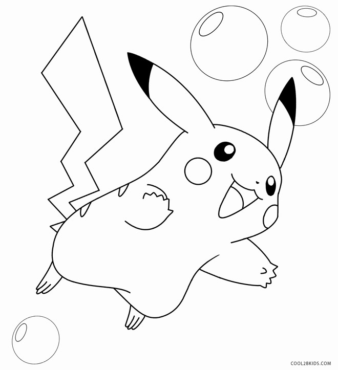 Pikachu color pages