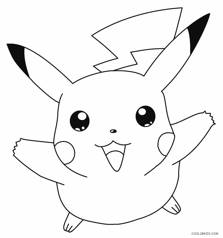 pikachu with hat coloring pages - photo#24